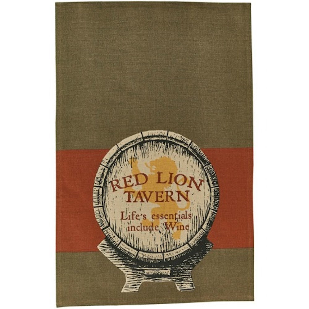 Red Lion Dish Towel - Farmhouse-Primitives