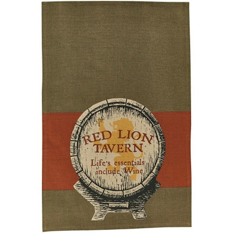 Red Lion Dish Towel