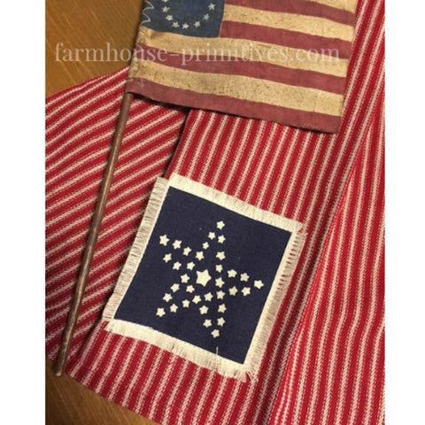Americana Star Patch Table Toppers - Farmhouse-Primitives