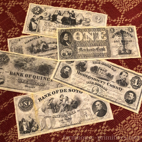 Civil War Union Currency - Farmhouse-Primitives