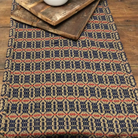 Acorn Textiles Red Blue Tan - Farmhouse-Primitives