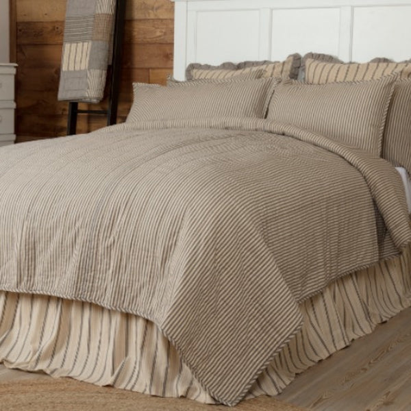 Sawyer Mill Charcoal Stripe Bedding - Farmhouse-Primitives