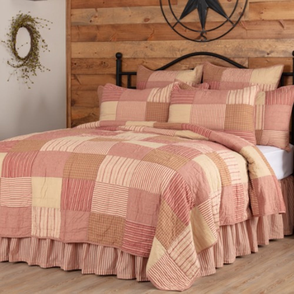 Sawyer Mill Red Patchwork Bedding - Farmhouse-Primitives