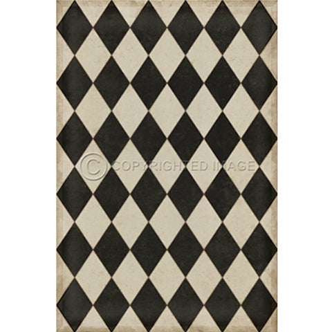 Edward Williamsburg Diamonds Floorcloth