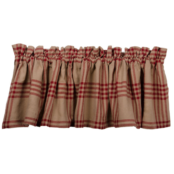 Chesterfield Check Barn Red Curtains - Farmhouse-Primitives