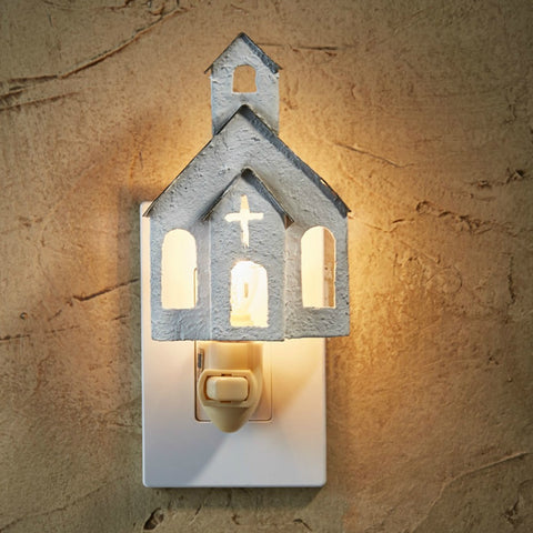 Chapel Night Light - Farmhouse-Primitives