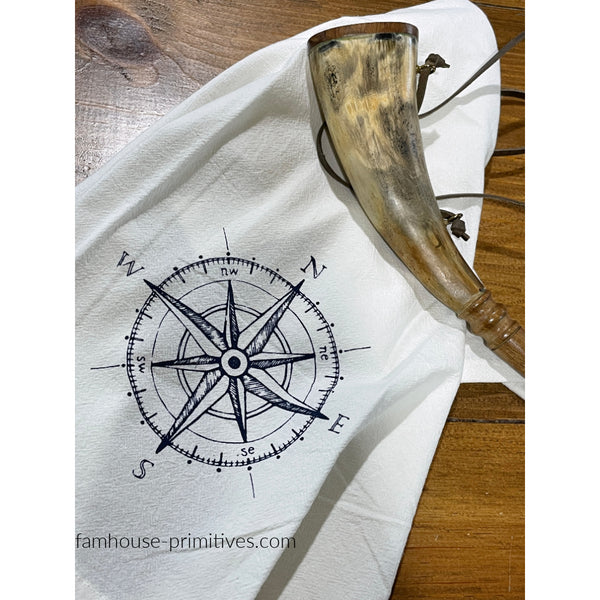 Compass Rose Dish Towel - Farmhouse-Primitives