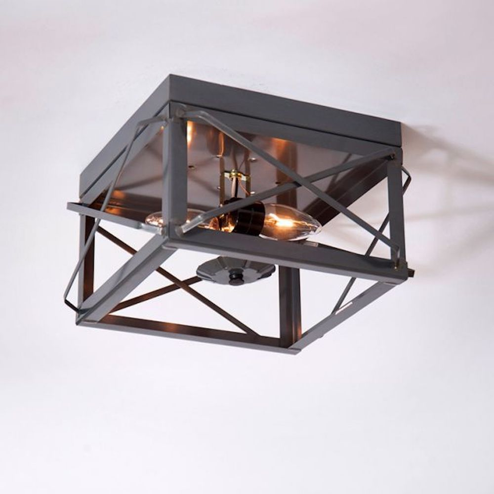 Double Ceiling Light with Folded Bars - Farmhouse-Primitives
