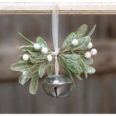 Mistletoe Bell Ornament - Farmhouse-Primitives