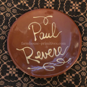 Paul Revere Redware Plate - Farmhouse-Primitives