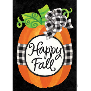 Happy Fall Pumpkin Garden Flag - Farmhouse-Primitives
