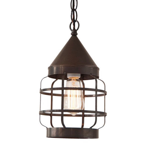 Round Strap Pendant Light - Farmhouse-Primitives