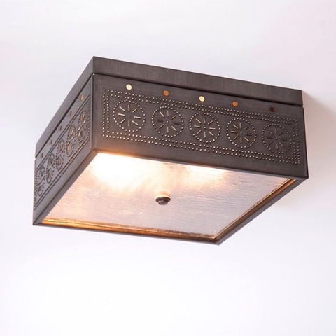 Square Ceiling Light - Farmhouse-Primitives