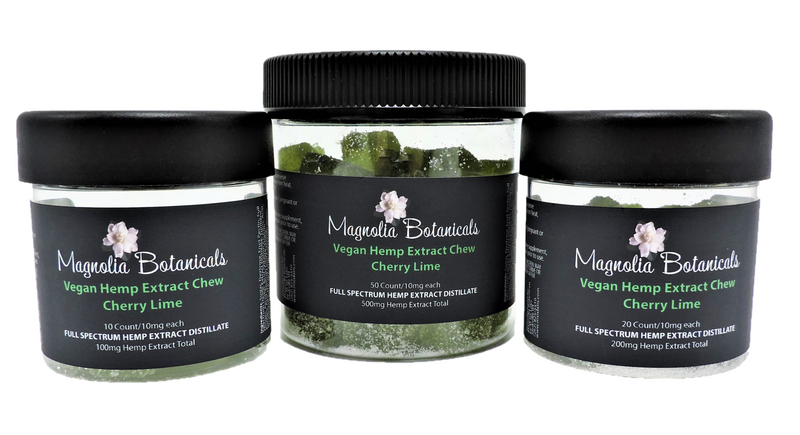 Vegan Hemp Extract Chew ~ Cherry Lime | Magnolia Botanicals