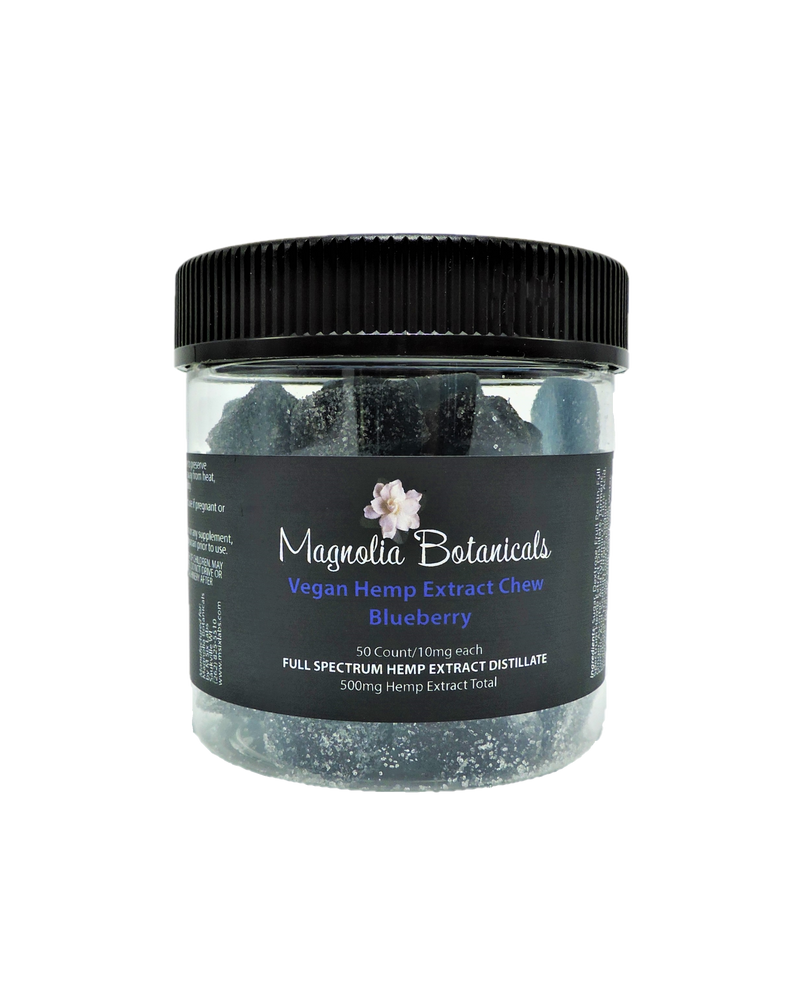 Magnolia Botanicals Vegan Hemp Extract Chew ~ Blueberry