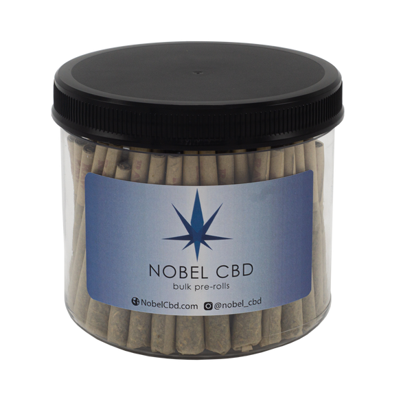 Bulk Jar of Naturally Flavored Hemp Pre Rolls | Nobel CBD