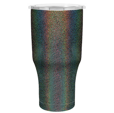 H2Go Black Glitter 28 oz Summit Tumbler