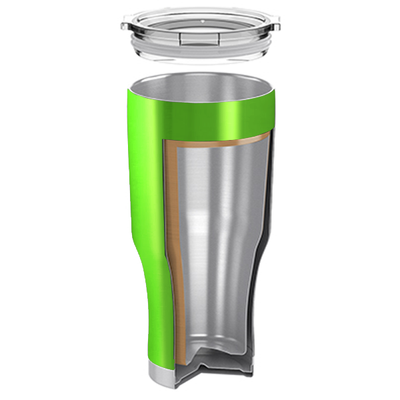 H2Go Green Translucent 28 oz Summit Tumbler