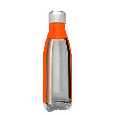 h2go Orange Gloss 17 oz Force Water Bottle
