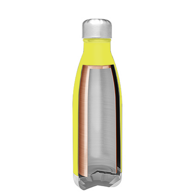 h2go Sunshine Yellow 17 oz Force Water Bottle