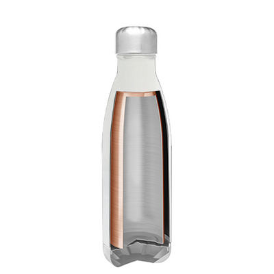 h2go White Gloss 17 oz Force Water Bottle