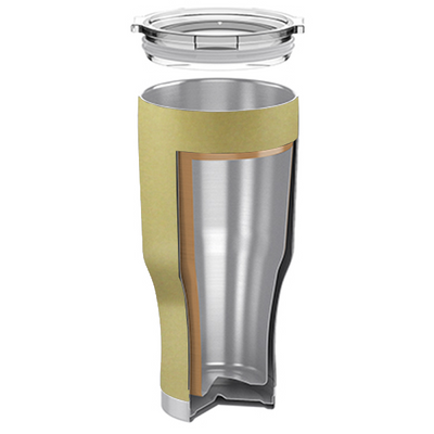 H2Go Gold Gloss 28 oz Summit Tumbler