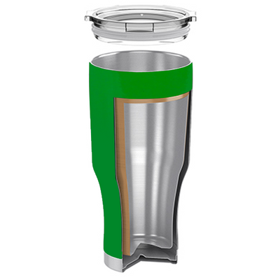 H2Go Tractor Green 28 oz Summit Tumbler