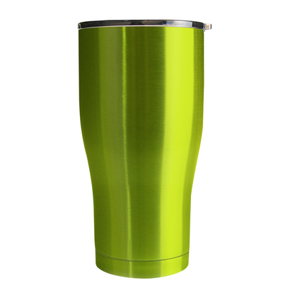 Hogg Candy Apple Green Translucent 20 oz Curve Modern Tumbler