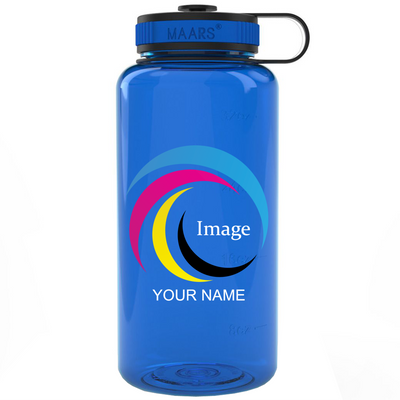 Blue 34 oz Wide Water Bottle