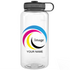 Clear 34 oz Wide Water Bottle