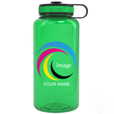 Green 34 oz Wide Water Bottle