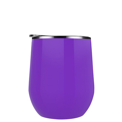 Maars Purple 12 oz Bev Steel Wine Tumbler