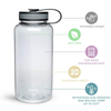 Maars Blue 34 oz Wide Water Bottle