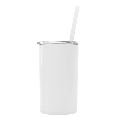 White 12 oz Skinny Mini Tumbler