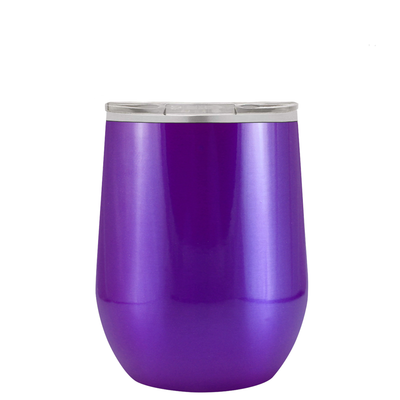 Polar Camel Purple Translucent 12 oz Wine Tumbler