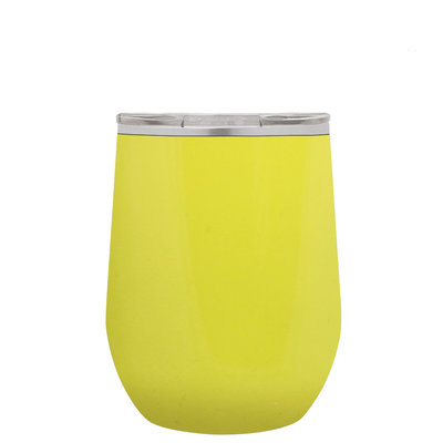 Polar Camel Yellow 12 oz Wine Tumbler