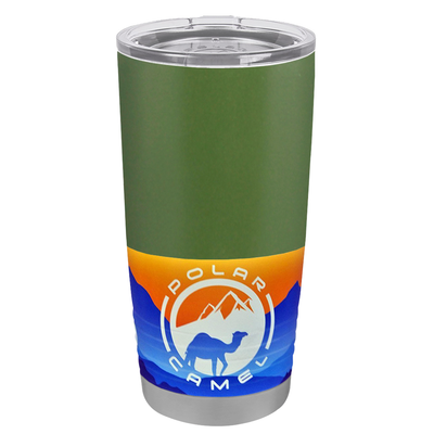 Polar Camel Army Green 20 oz Tumbler