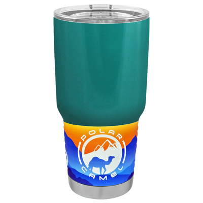 Polar Camel Aqua Blue Gloss 30 oz Tumbler