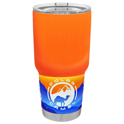 Polar Camel Bright Orange Gloss 30 oz Tumbler