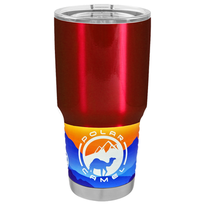 Polar Camel Red Translucent 30 oz Tumbler
