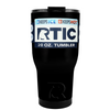 RTIC Black Gloss 20 oz Tumbler