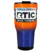 RTIC Blue Orange Translucent Ombre 30 oz Tumbler