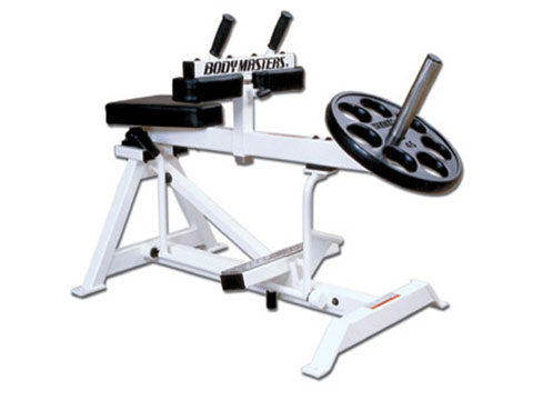 Factory photo of a Refurbished Body Masters Plate Loaded Seated Calf Raise