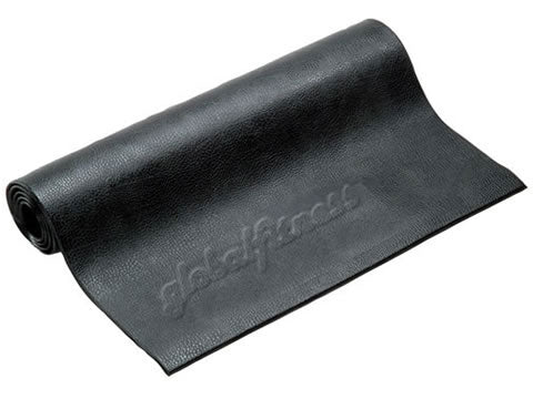 Factory photo of a New GFI 7x3 Cardio Mat with Logo