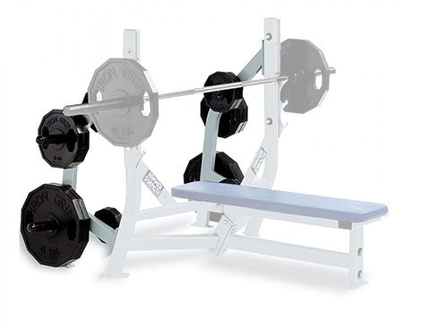 Refurbished Hammer Strength Olympic Bench Weight Storage