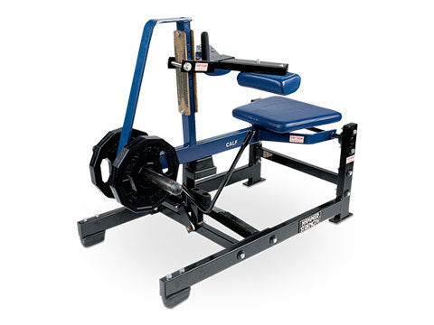 Factory photo of a Used Hammer Strength Plate Loaded Seated Calf Raise