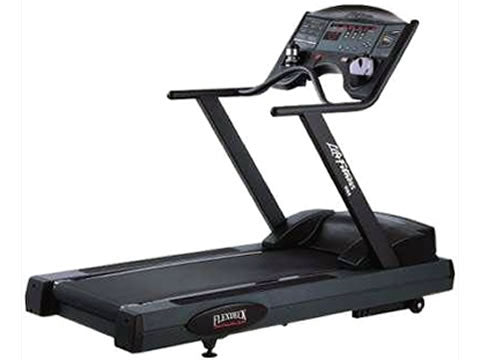 Factory photo of a Refurbished Life Fitness 9100HR Next Generation Treadmill