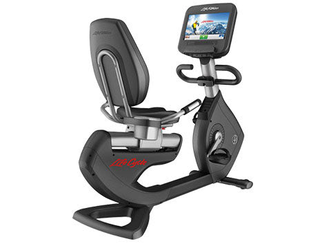 Factory photo of a Refurbished Life Fitness 95R Discover SE Recumbent Bike