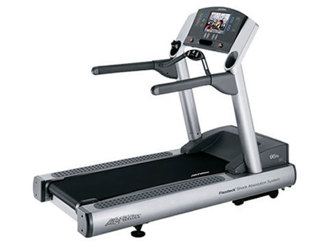 Factory photo of a Refurbished Life Fitness 95Te Treadmill