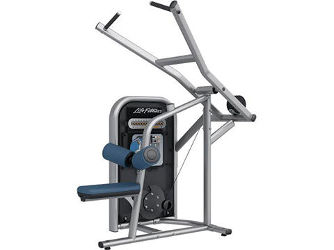Factory photo of a Used Life Fitness Circuit Series Push Button Resistance Lat Pulldown